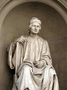 statue of the famous architect arnolfo di cambio- florence. - stock photo