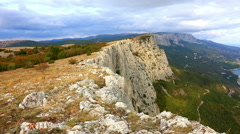 View from Foros's rocks to the Black Sea, the Crimea Stock Footage