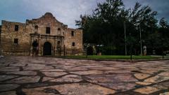 Timelapse of Alamo in San Antonio Stock Footage