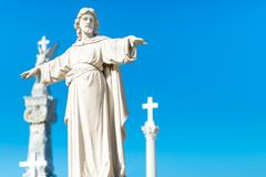 Statue of jesus christ with his arms extended Stock Photos