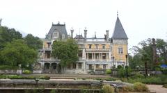 Alexander III Massandre's palace, Crimea Stock Footage