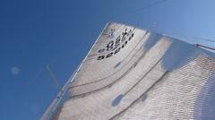 Yacht Racing - Camera tilt of Sail 1 Stock Footage