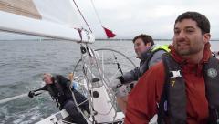 Yacht Racing - Helmsman and Crew 2 Stock Footage