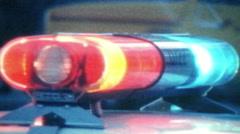 Police Lights Vintage Super 8 Arkistovideo