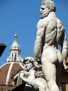Florence, piazza della signoria Stock Photos