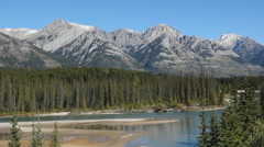 Mountain landscape. Banff National Park in Alberta, Canada. - stock footage