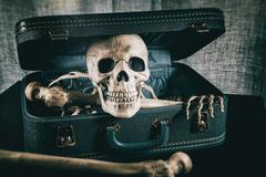 Skeleton in a Suitcase  - stock photo