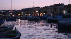 Marsaxlokk Malta Stock Footage