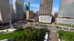 4k downtown miami buildings fisheye removed Stock Footage