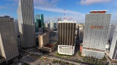 4k downtown miami highrise fisheye removed Stock Footage