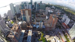 Aerial Brickell City Center cranes 4k Stock Footage