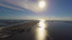 Downtown Miami sunrise 4k Stock Footage