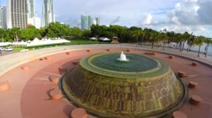 4k Downtown Miami Bayfront Park Stock Footage