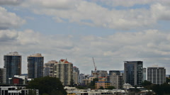 Redevelopment in Brisbane time lapse 4K Stock Footage