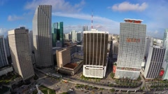 Downtown Miami 4k aerial video Stock Footage
