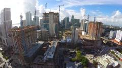 Construction of Brickell City Center Miami USA 4k Stock Footage