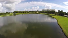 Aerial video of a golf course in 4k Stock Footage