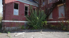 Decayed School - stock footage