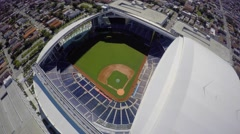 Open roof stadium 4k aerial video Stock Footage