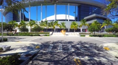 Front of the Marlins Stadium Miami 4k video Stock Footage