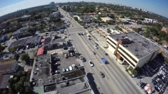 Aerial Miami Flagler and 27th Ave Stock Footage