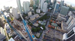 Aerial turn over Brickell Miami FL Stock Footage