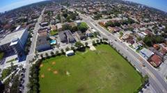 4k aerial video Marlins Stadium Miami Stock Footage