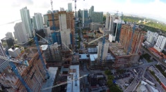 Aerial backwards fly Brickell City Center 4k Stock Footage