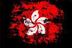 hong kong flag - stock illustration