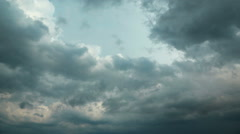 Storm clouds timelapse. Video without birds and defects Stock Footage
