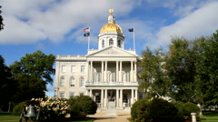 Concord New Hampshire State House Stock Footage
