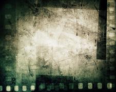 Film negative frames, copy space Stock Photos