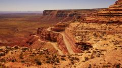 Moki Dugyway 03 Utah USA Stock Footage