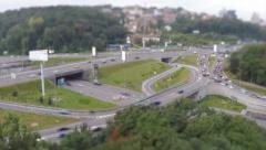Busy road junction packed with cars, traffic jam, rush hour, click for HD Stock Footage