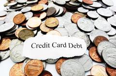 credit debt - stock photo