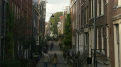 Small street in old city Stock Footage
