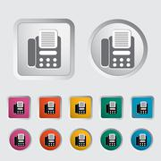 Stock Illustration of Fax icon.