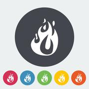 Fire flat icon Piirros