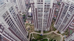 Aerial View from a Luxury Condominium in Sao Paulo, Brazil Stock Footage