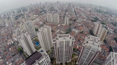 Aerial View from Tatuape District in Sao Paulo, Brazil Stock Footage