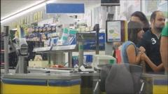Supermarket queue timelapse, 1080p - stock footage