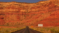 Moki Dugyway 08 Utah USA Stock Footage