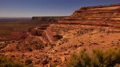 Moki Dugyway 09 Tilt Up Utah USA Stock Footage
