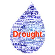Drought word cloud concept Piirros