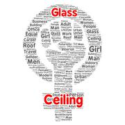 glass ceiling word cloud concept - stock illustration