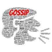 gossip word cloud concept - stock illustration