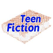 teen fiction word cloud concept - stock illustration