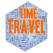 time travel word cloud concept - stock illustration