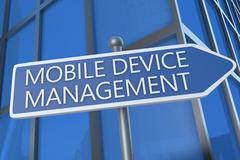 Mobile device management Stock Illustration