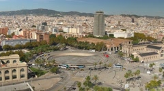 4K Aerial Barcelona Cityscape Stock Footage